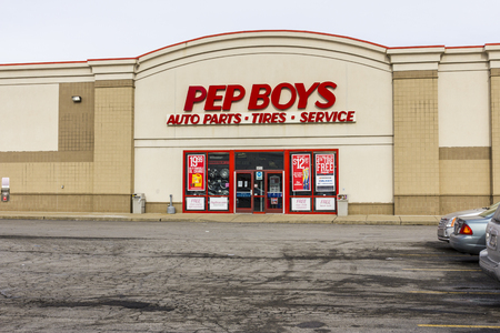 Indianapolis - Circa December 2016: Pep Boys Auto Parts Retail Location. Pep Boys is a full-service and tire automotive aftermarket chain II Redakční