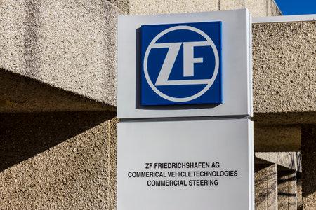 friedrichshafen: Lafayette - Circa December 2016: ZF Friedrichshafen Steering Factory. ZF Friedrichshafen acquired TRW Automotive in 2015 III