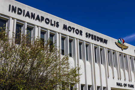indy: Indianapolis - Circa September 2016: Indianapolis Motor Speedway Hall of Fame Building. IMS Hosts the Indy 500 and Brickyard 400 Auto Races VIII Editorial
