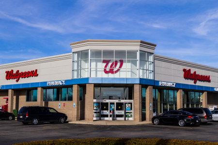 インディ アナポリス - 2017 年 2 月頃: ウォル グリーンの小売店の場所。ウォル グリーンはアメリカの製薬会社 IX です。
