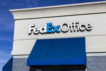 Indianapolis - Circa February 2017: Local FedEx Office Location. FedEx Office offers retail Ground and Express shipping as well as printing and copying I Stock Photo - 71695465