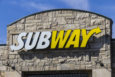 Indianapolis - Circa February 2017: Subway Sandwich Location. Subway is the Worlds Largest Submarine Sandwich Chain V