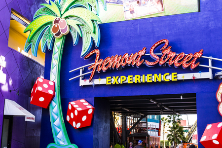 Las Vegas - Circa December 2016: Entrance to the Fremont Street Experience in Downtown Las Vegas III