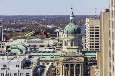 highrises: Indianapolis - Circa March 2017: Indiana State House and Capitol Dome. It houses the Governor, Assembly and Supreme Court IV