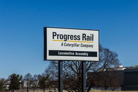 Muncie - Circa March 2017: Progress Rail Services Corporation Locomotive Manufacturing Plant. Progress Rail is a subsidiary of Caterpillar I