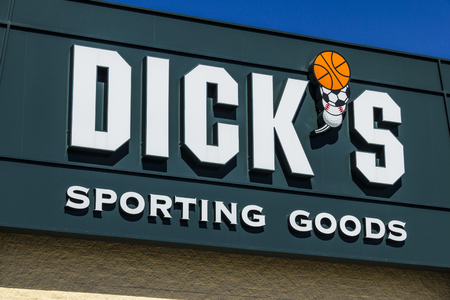 sporting goods: Muncie - Circa March 2017: Dicks Sporting Goods Retail Location. Dicks is an Authentic Full-Line Sporting Goods Retailer V