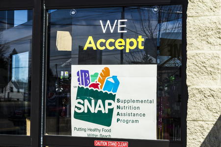 Muncie - Circa March 2017: A Sign at a Retailer - We Accept SNAP II