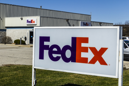 Muncie - Circa March 2017: Federal Express Customer Pickup Location. FedEx is a Worldwide Delivery Company XI