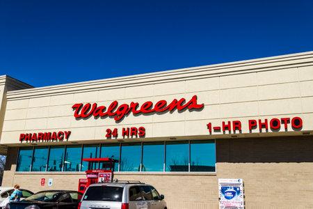 Muncie - Circa March 2017: Walgreens Consumer Pharmacy Store. Walgreens is an American Pharmaceutical Company XI Editorial