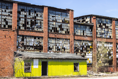 Urban Blight - Old Abandoned Railroad Factory I Stock Photo