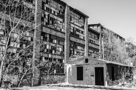 Urban Blight - Old Abandoned Railroad Factory IV Banco de Imagens