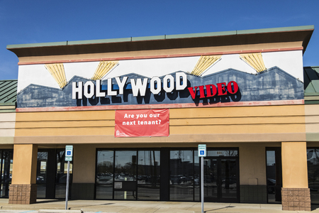 Lafayette - Circa April 2017: Defunct Hollywood Video Retail Location. Hollywood Video and Blockbuster both symbolized industries that did not keep up with technology II