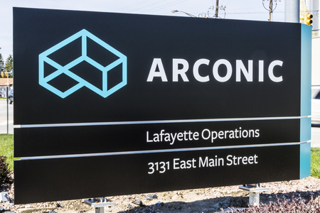 Lafayette - Circa April 2017: Arconic Forging and Extrusion Plant. Arconic was spun off of Alcoa in 2016 II Editorial