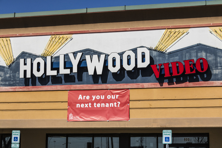 Lafayette - Circa April 2017: Defunct Hollywood Video Retail Location. Hollywood Video and Blockbuster both symbolized industries that did not keep up with technology I
