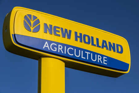 Lafayette - Circa April 2017: Logo and Signage of New Holland Agriculture. New Holland manufactures agricultural machinery I