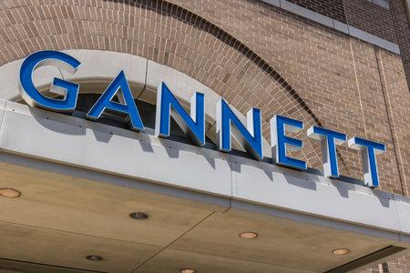 インディ アナポリス - 2017年 4 月年頃: Gannett の会社インディ星本部。ガネット社以上 100 の日刊新聞を所有しています。 報道画像