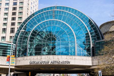 Indianapolis - Circa April 2017: Indianapolis Artsgarden. The Indianapolis Artsgarden is a glassed dome downtown walkway