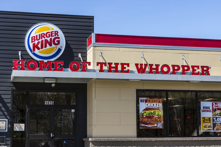 Fort Wayne - Circa April 2017: Burger King Retail Fast Food Location. Every day, more than 11 million guests visit Burger King III Editorial