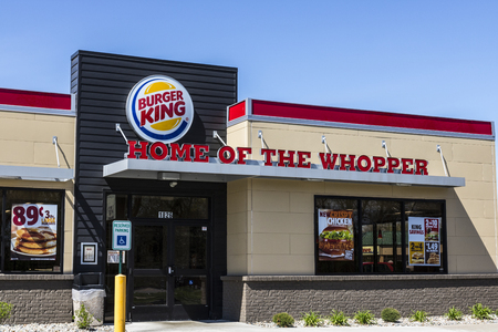 Fort Wayne - Circa April 2017: Burger King Retail Fast Food Location. Every day, more than 11 million guests visit Burger King IV