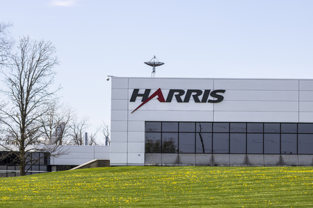 Fort Wayne - Circa April 2017: Harris Controls Engineering Division. Harris Corporation is a Defense Contractor and IT Services Provider I Stok Fotoğraf - 76289850