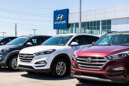 Indianapolis - Circa April 2017: Hyundai Motor Company Dealership. Hyundai is a South Korean Multinational Automotive Manufacturer IX Editorial