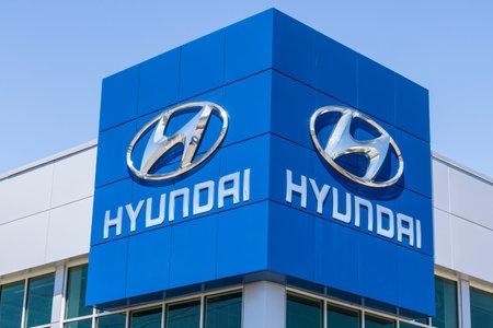 Indianapolis - Circa April 2017: Hyundai Motor Company Dealership. Hyundai is a South Korean Multinational Automotive Manufacturer IV Editorial