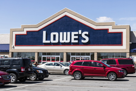Marion - Circa April 2017: Lowes Home Improvement Warehouse. Lowes operates retail home improvement and appliance stores in North America VII