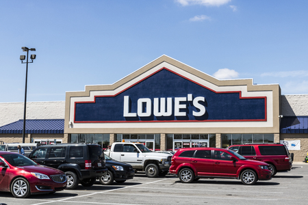 Marion - Circa April 2017: Lowes Home Improvement Warehouse. Lowes operates retail home improvement and appliance stores in North America VI