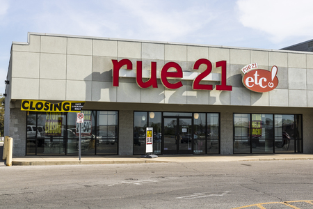 Marion - Circa April 2017: rue21 Retail Strip Mall Location. rue21 is closing about one-third of its stores nationwide II Editorial