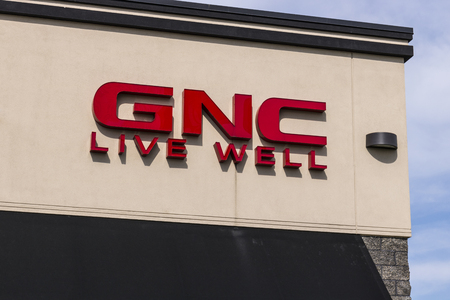 Marion - Circa April 2017: GNC health and nutrition retail strip mall location. GNC is partially owned by the Ontario Teachers Pension Plan I Editorial