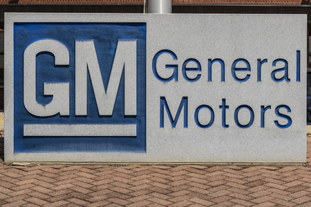 Marion - Circa April 2017: General Motors Logo and Signage at the Metal Fabricating Division. GM opened this plant in 1956 II Stock Photo - 76809412