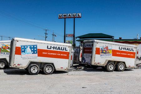 Kokomo - Circa May 2017: U-Haul Moving Truck Rental Location. U-Haul offers moving and storage solutions III