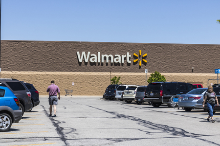 Indianapolis - Circa May 2017: Walmart Retail Location. Walmart is an American Multinational Retail Corporation IX