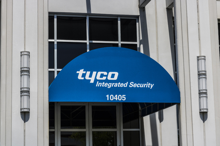 Indianapolis - Circa May 2017: Tyco Integrated Security Office Location. Tyco specializes in electronic security products, installation and services I Editorial