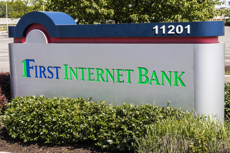 Fishers - Circa May 2017: First Internet Bank Headquarters. First Internet Bank is one of the first FDIC insured banks to operate without physical branches II