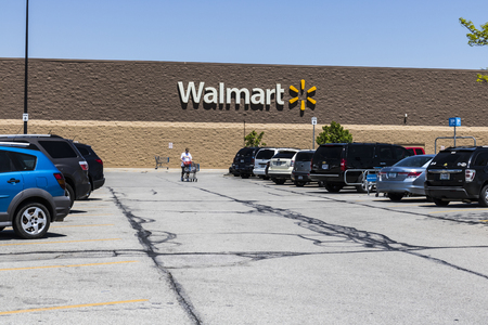 Indianapolis - Circa May 2017: Walmart Retail Location. Walmart is an American Multinational Retail Corporation VIII