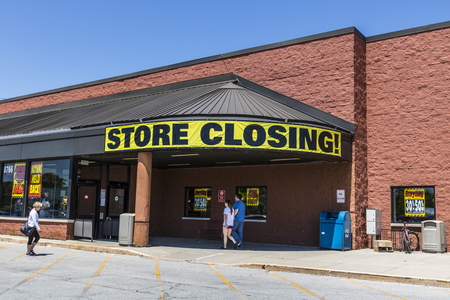 Indianapolis - Circa May 2017: Store Closing Sign on a a grocery market going out of busiiness III
