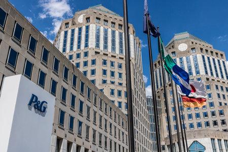 Cincinnati - Circa May 2017: Procter & Gamble Corporate Headquarters. P&G is an American Multinational Consumer Goods Company IX Editorial
