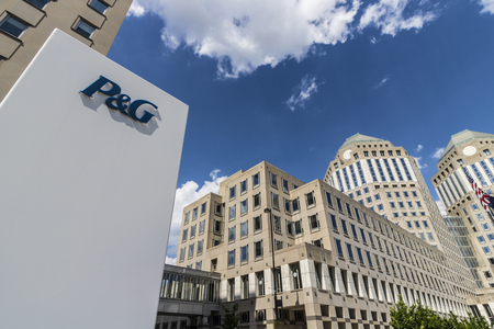 Cincinnati - Circa May 2017: Wide Angle Procter & Gamble Corporate Headquarters. P&G is an American Multinational Consumer Goods Company VII