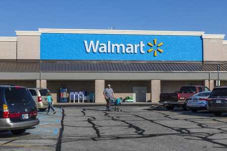 Shelbyville - Circa May 2017: Walmart Retail Location. Walmart is an American Multinational Retail Corporation