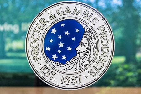 Cincinnati - Circa May 2017: Procter & Gamble Original Corporate Logo. P&G is an American Multinational Consumer Goods Company Editorial