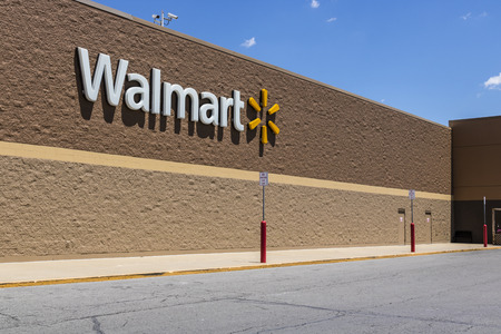 Indianapolis - Circa May 2017: Walmart Retail Location. Walmart is an American Multinational Retail Corporation XII
