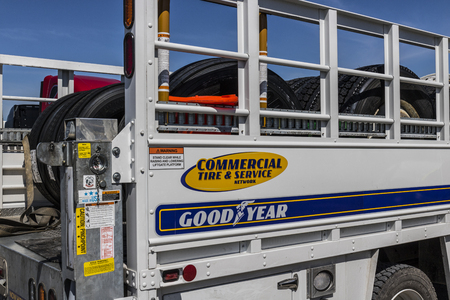 Indianapolis - Circa June 2017: Goodyear Commercial Tire and Service Vehicle. Goodyear provides tires and services for Big Rig Semi Tractor Trailer Trucks III