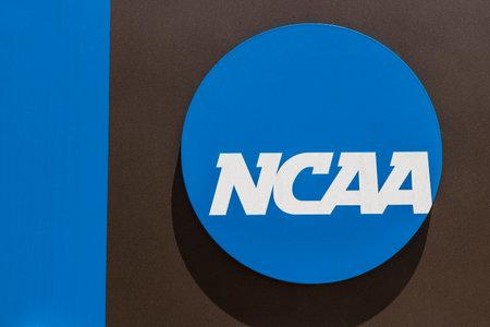 Indianapolis - por volta de junho de 2017: sede de associação atlética colegial nacional. A NCAA regula programas atléticos de muitas faculdades e universidades VII