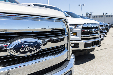 Lafayette - Circa June 2017: A Local Ford Car and Truck Dealership. Ford sells products under the Lincoln and Motorcraft brands X
