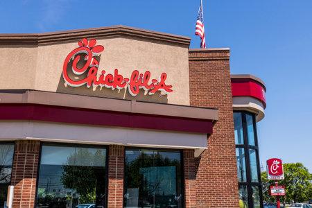 Lafayette - Circa giugno 2017: Chick-fil-A Retail Fast Food Location. I ristoranti Chick-fil-A sono chiusi la domenica VIII Editoriali