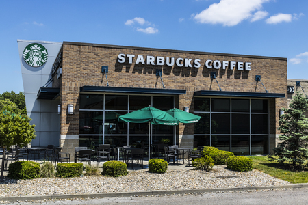 Indianapolis - Circa June 2017: Starbucks Retail Coffee Store. Starbucks Inclusion Academy prepares people with disabilities for retail jobs XIII Editorial