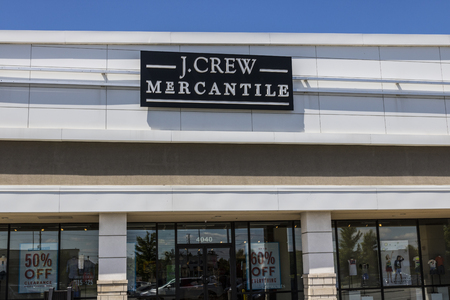 Indianapolis - Circa June 2017: J.Crew Retail Strip Mall Location. Same-store sales have been down at JCrew for the past three years, prompting changes in leadership II