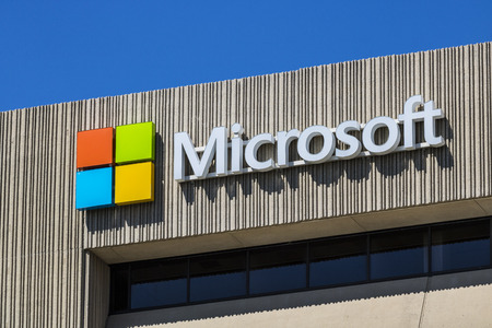 Indianapolis - Circa June 2017: Microsoft Midwest District Headquarters. Microsoft develops and manufactures Windows and Surface software VIII