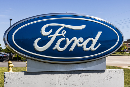 Indianapolis - Circa June 2017: Local Ford Car and Truck Dealership. Ford sells products under the Lincoln and Motorcraft brands XIV Editorial
